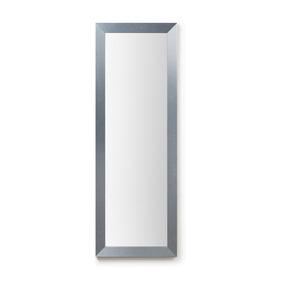 Espejo Decorativo Con Marco Aluminio Plateado 108 X 38 Cm