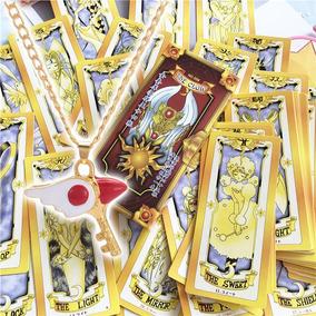 Baralho Cartas Clow E Colar Chave - Sakura Card Captors