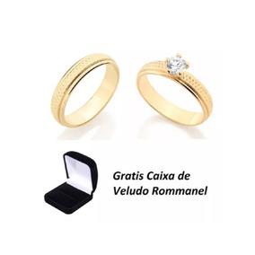 059ad1868b2 Par Anel Compromisso Rommanel - Joias e Bijuterias no Mercado Livre ...
