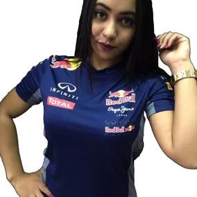 Camiseta Feminina Manga Curta Red Bull Bmw Ferrari Baby Look d0371e27d01