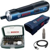 Parafusadeira Bateria 3,6v Bosch Go Bivolt + 32 Peças Bosch