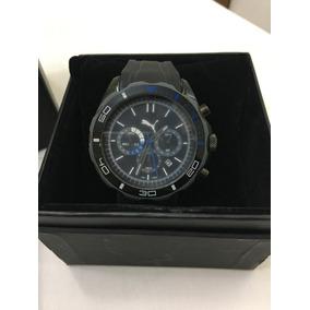 Relógio De Pulso Masculino Puma Original Preto E Azul