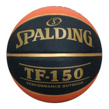 Bola De Basquete Spalding Tf 150 Performance Fiba + Bomba