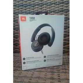 Headphone Fone De Ouvido Jbl Preto Com Microfone T450 Novo
