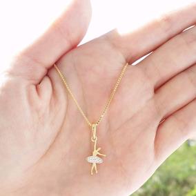 Colar Cordão Bailarina Folheado Ouro A 18k Garantia