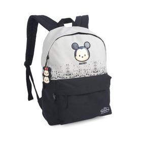 Mochila Escolar Feminina Minnie Mickey Juvenil Ms45478ts