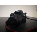 Canon T6 1300d Faja Cargador Memoria Lente 1855 Impecable