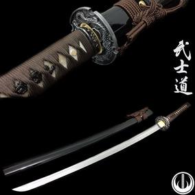 Katana Samurai Forjada Aço Damasco Original Espada Com Corte