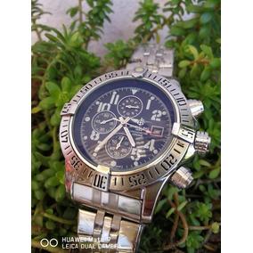 Reloj Breitling Disponible En Negro Y Plateado Precio Pza
