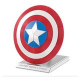 Rompecabezas 3d Metal Puzzle Capitán América Escudo