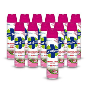 Lysoform Aerosol Desinfectante Floral 360ml X12