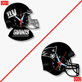 d62e5395e22 Relógio De Parede Esportes Futebol Americano Giants Patriots