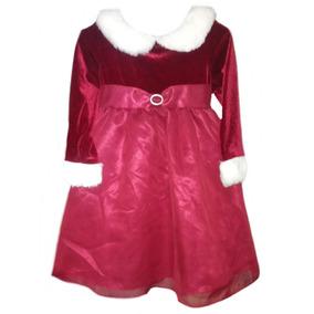 Vestido Rojo Navideño, Santa Claus Talla 2 Años