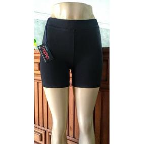 Kit Com 5 Shorts Curtos Pretos De Cotton Cintura Alta