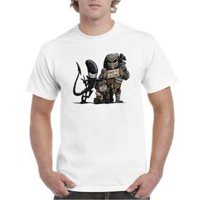 Camisa De Hombre Depredador Alienigena f4d01552bbd74