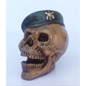 Caveira Cranio Esqueleto Soldado Boina a8f41409916