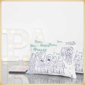 15 Almofadas Colorir Personalizadas Lembrancinha 20x30cm