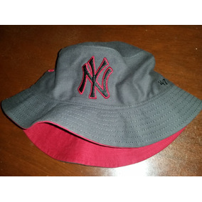 Gorro Tipo Bucket Hat Gorra Yankees New York Mlb Nuevo Gris 2e62911a0df