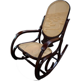 Cadeira De Balanço Com Madeira Jatobá Verniz Pu