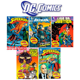 Hqs Dc Comics Abril Superman Batman Kit 12 Volumes
