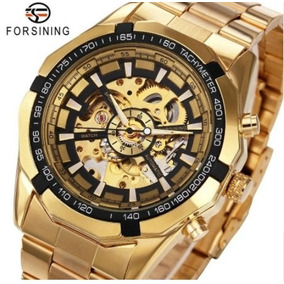 Relógio Automático Winner De Luxo Cor: Dourado Frete Fixo