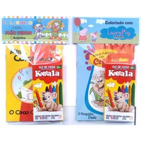 20 Livros De Colorir Com Giz Com Embalagem E Personalizado
