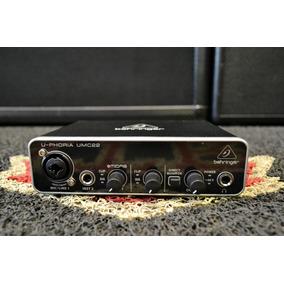 Interface De Audio Behringer Umc22 Novo + Frete Gratis!
