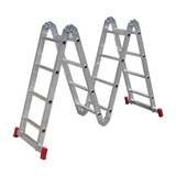 Escada Multifuncional 4x4 Em Alumínio 16 Degraus 13 Posições