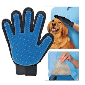 Guante Cepillo Mascotas Original Blue Touch Perros Gatos