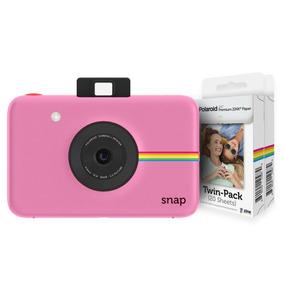 Camara Polaroid Snap Pink + 2 Set De Papeles (40 Fotos)