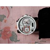 Relógio Diesel Modelo 7125, 4 Mostradores Pulseira Branca