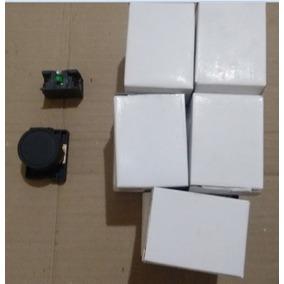 Botão De Comando Preto Na 22mm Kit Com 10 Peças