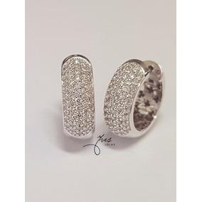 1a707ec04b4df Brinco Argolas Em Ouro Branco Com Diamantes - Joias e Relógios no ...