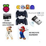 Paquete 2 Controles Ps3 Microsd64gb Miniconsola 10mil Juegos