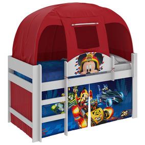 Cama Infantil Mickey Disney Com Barraca Vermelha Pura Magia