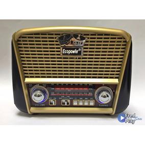 Rádio Solar Retrô Vintage Amfm Recarregável Usb Sd Barato