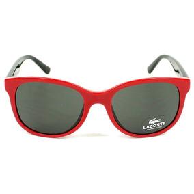 Óculos De Sol Lacoste L3603s 615 48 Vermelho Com Preto 2957fc89af