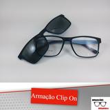 Óculos Armação De Grau + Solar Acetato 2 Em 1 Clip On Laa21 542d842e37