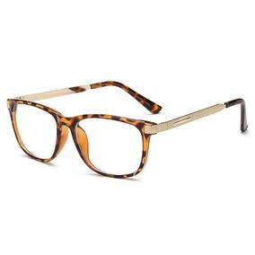 bd158271b107f Armação Quadrada Geek Leopardo - Óculos no Mercado Livre Brasil