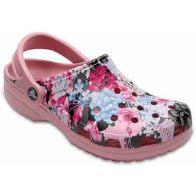 Zapato Crocs Dama Classic Graphic Clog Rosa