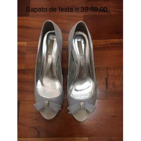 Roupas Femininas Sapato De Festa N 39 Prata
