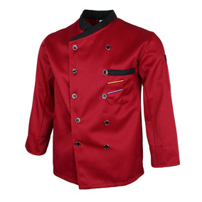 Unisex Chef Chaquetas Camarero Traje Abrigo Mangas Largas C