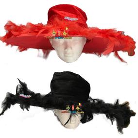 Sombrero De Catrina Plumas Fiesta Halloween Muertos 21682b85cb1
