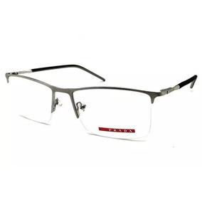 1ef43486c428b Armação Oculos Grau Masculino Titânio Pr52rv Nylon Original. R  75