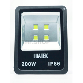 Refletor Led 200w Holofote Ip 66 Bivol Luatek Lk-cw-200w