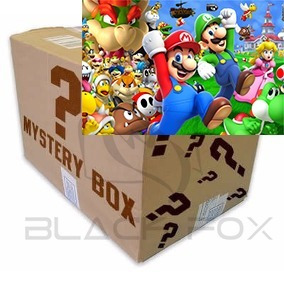 Caixa Misteriosa Mystery Box Tema Mario Bros Camiseta E Mais