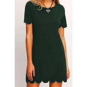 Vestido Casual Verde Obscuro