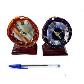 Relógio De Agata Pedra Semi Preciosa Equilibrio Vitalidade 2