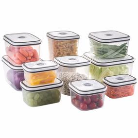 Conjunto Potes Herméticos Cozinha C/tampa 10 Peça Electrolux