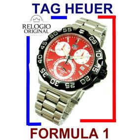 Tag Heuer Formula 1 Cronógrafo Aço-aço Vermelho Cah1112 !